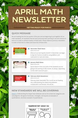 April Math Newsletter