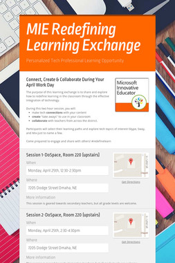 MIE Redefining Learning Exchange