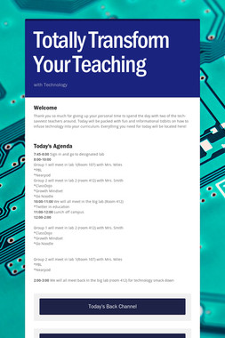 Totally Transform Your Teaching