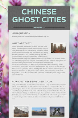 Chinese Ghost Cities