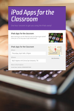 iPad Apps for the Classroom
