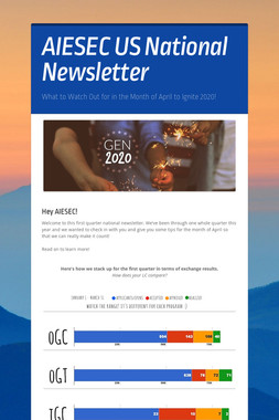 AIESEC US National Newsletter
