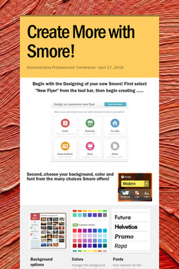 Create More with Smore!