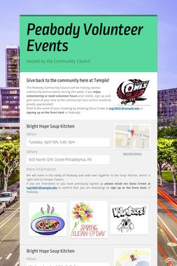 Peabody Volunteer Events