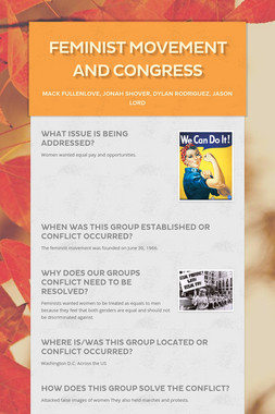 Feminist Movement and Congress