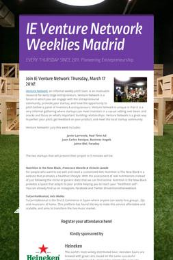 IE Venture Network Weeklies Madrid
