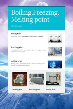 Boiling,Freezing,Melting point