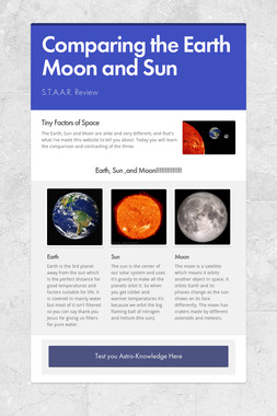 Comparing the Earth Moon and Sun