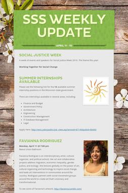 SSS Weekly Update
