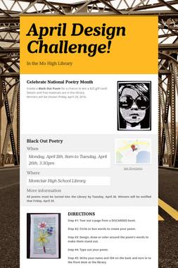 April Design Challenge!
