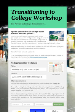 Transitioning to College Workshop