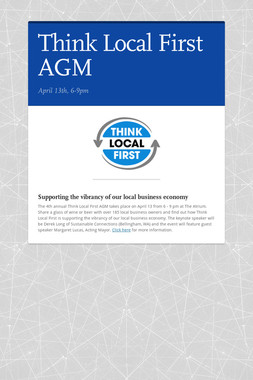 Think Local First AGM