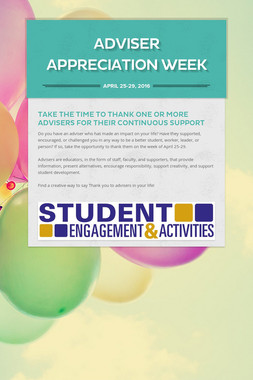 Adviser Appreciation Week