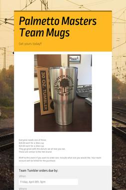Palmetto Masters Team Mugs