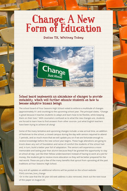 Change: A New Form of Education