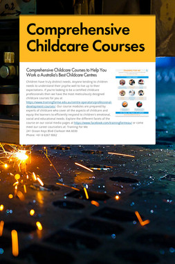 Comprehensive Childcare Courses