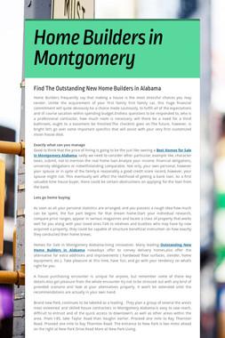 Home Builders in Montgomery