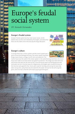 Europe's feudal social system