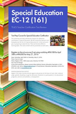 Special Education EC-12 (161)