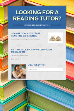Looking For a Reading Tutor?