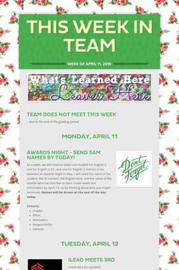 This Week in Team