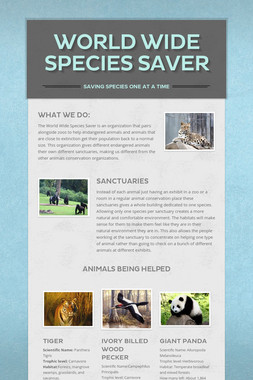 World Wide Species Saver