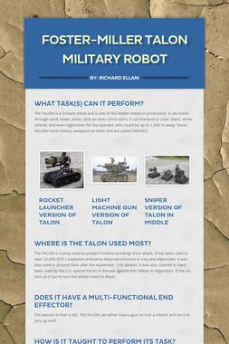 Foster-Miller TALON military robot