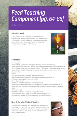 Feed Teaching Component (pg. 64-85)