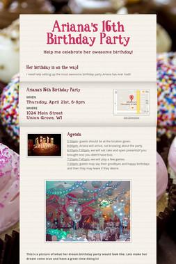 Ariana's 16th Birthday Party