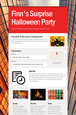 Finn's Surprise Halloween Party