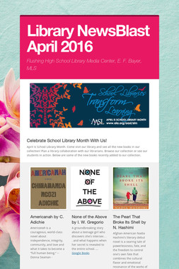 Library NewsBlast April  2016