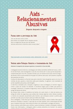 Aids - Relacionamentos Abusivos