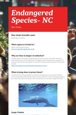 Endangered Species- NC