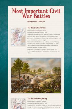 Most Important Civil War Battles