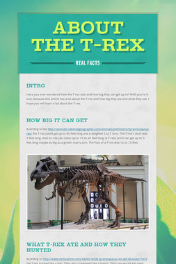 about the t-rex
