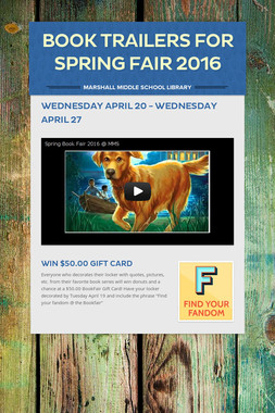 Book Trailers for Spring Fair 2016