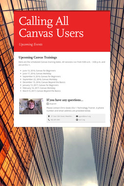Calling All Canvas Users