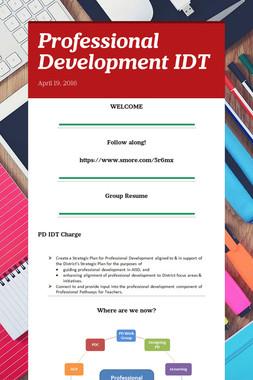 Professional Development IDT
