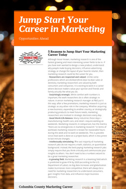 Jump Start Your Career in Marketing