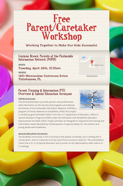 Free Parent/Caretaker Workshop