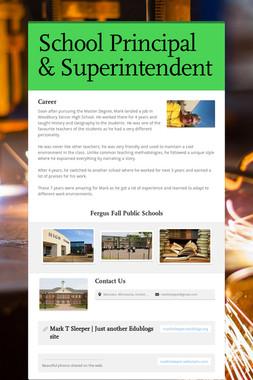 School Principal & Superintendent