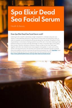 Spa Elixir Dead Sea Facial Serum