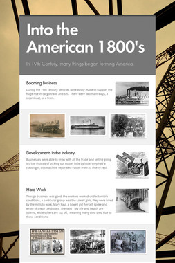 Into the American 1800's