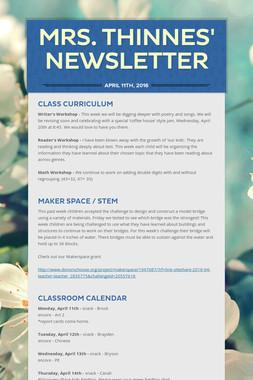 Mrs. Thinnes' Newsletter