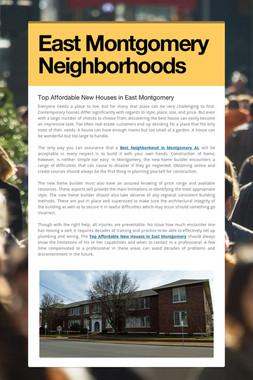 East Montgomery Neighborhoods