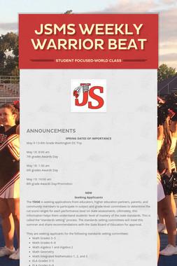 JSMS Weekly Warrior Beat