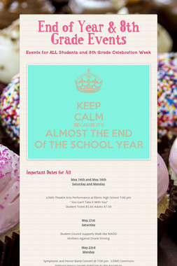 End of Year & 8th Grade Events