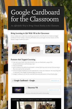 Google Cardboard for the Classroom