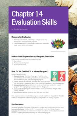 Chapter 14 Evaluation Skills