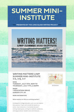 Summer Mini-Institute